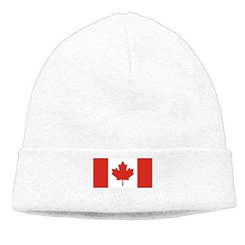 Gorras béisbol Mens&Womens Make Canada Great Again Flag Outdr Daily Beanie Hat Skull Cap Black