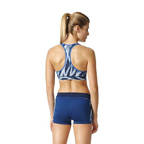 adidas Tf Bra 1 Sujetador Deportivo, Mujer Multicolor (Print / Azul)