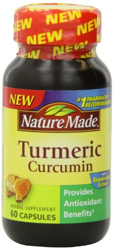 Nature Made Turmeric Antioxidant Herbal Supplement 500 Mg, 60 Capsules