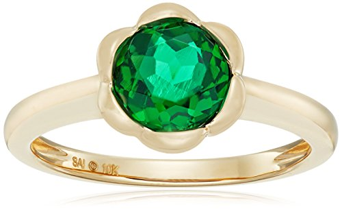 Yellow Gold Emerald Ring - 4