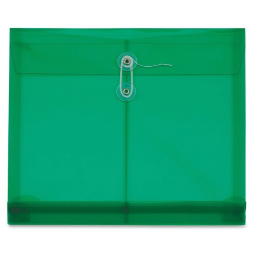 Expanding Catalog Envelopes (Globe-Weis/Pendaflex Poly Envelopes, Side Open, 1.25-Inch Expansion, Letter Size, Green, 5 Envelopes Per Pack (84523GW))
