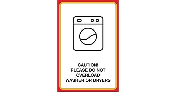 Precaución por favor no sobrecarga lavadora o secadora impresión ...
