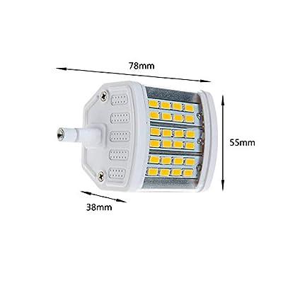 MD Lighting 10W R7S 78mm LED Light Bulbs(2 Pack)- Warm White 3000K 900 Lumen 100W R7S Halogen Bulb Replacement 24 LEDs J Type Double Ended R7s Floodlight Bulb, AC 85V-265V