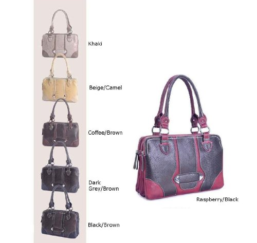 Designer Inspired Genesis Handbag – Beige/Camel, Bags Central