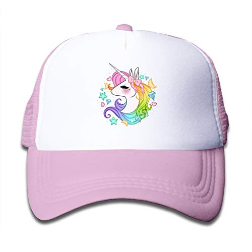 Waldeal Cute Unicorns Kids Mesh Cap Trucker Caps Hat Adjustable Pink (Girls Caps And Hats)