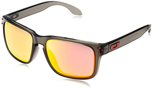 Oakley Men's Holbrook  Rectangular Sunglasses, Grey Smoke, 56 - Holbrook Oakleys Sunglasses
