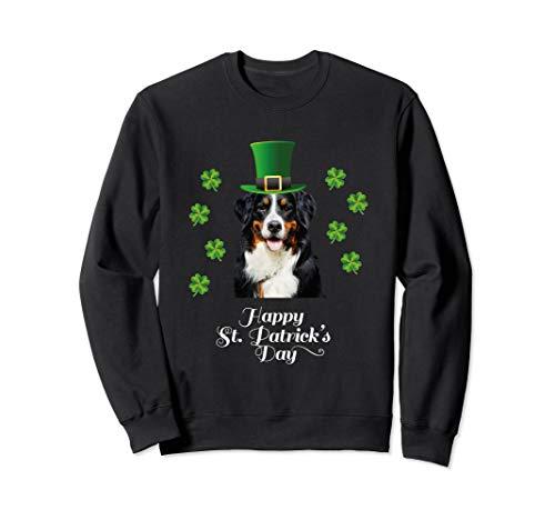 - St. Patricks Day with Bernese Mountain Dog Sweatshirt