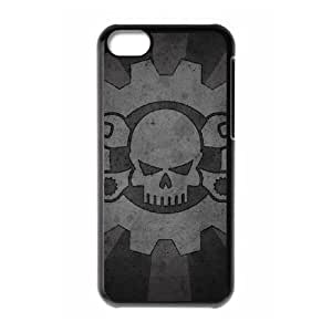 IPhone 5C Phone Case for Classic Theme RED SKULL pattern design GCTRSL992691