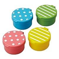 CuteZCute Mini Condiment Mayo Container para lonchera Bento, azul /rosa /verde /amarillo, juego de 4