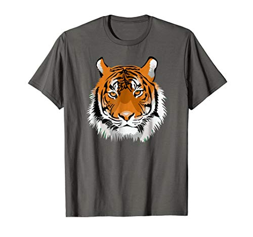 (Bengal Tiger Head Art Tiger Face Feline Animal Charm T-Shirt)