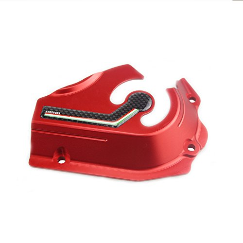 PRO-KODASKIN Aluminum Billet Front Sprocket Cover for Ducati Hypermotard 821 or Scrambler (Red)