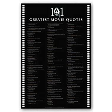101 Greatest Movie Quotes - Inspirational Poster -24 x 36
