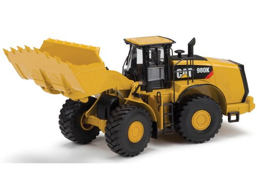 Norscot Cat 980K Wheel Loader Rock Configuration Die Cast Vehicle (1:50 Scale), Caterpillar Yellow