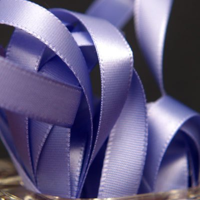 Double Face Satin Ribbon PERIWINKLE IRIS 100% Polyester 5/8 inch x 10 (Satin Ribbon Willow)