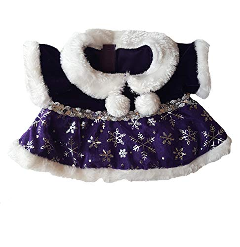 Purple Snowflake Dress Outfit Teddy Bear Clothes Fits Most 14