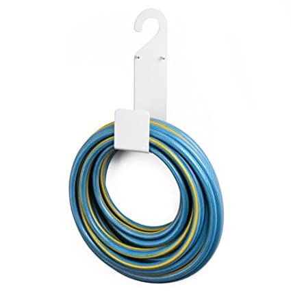 Amazing White Garden Hose Holder Wall Mount Durable, Very Powerful Hanger It Can  Hold 100ft