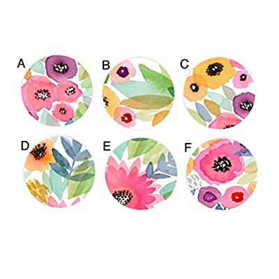 Pastel Watercolor Floral Flowers Girls Nursery Kids Childrens Drawer Knobs Furniture Knobs Pulls: Handmade