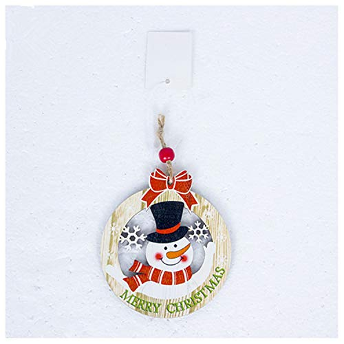 Plush Snowman Family Christmas Wreath - JEWH Cute Santa Clause - Bow Bell Christmas Tree Ornament - Decoration Wooden Snowman Elk - Hanging Pendant Christmas - Decorations for Home (Snowman Wreath)