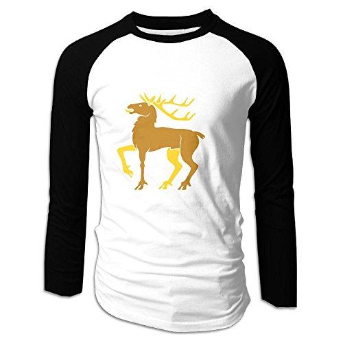 Nfuxinqu Christmas Elk Men's Long Sleeve Raglan Tshirt Cotton Classic Comfort Soft T Shirt For Mens XXL
