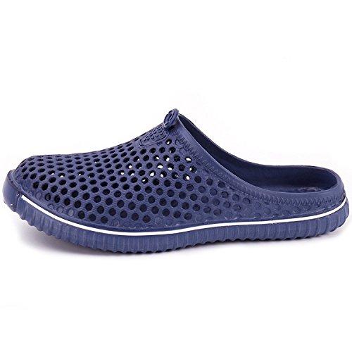 en los de Auspiciousi de Resbalón Sandalias Hombres Zuecos Playa del Zapatos Jardín Navy los Cómodas Hombres la Piscina de Libre al Aire de la awHnEarqf4