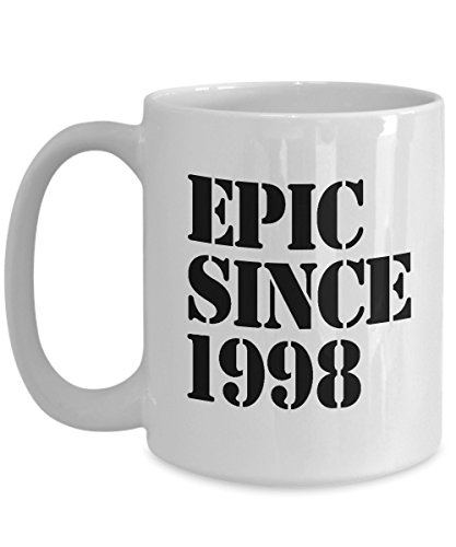 1998 Gift Idea for 20th Birthday Coffee Mug - 20 Years Old Unique Present for Boyfriend, Girlfriend, Brother, Sister in Law, Teen, Son, Daughter (Christmas Presents For 20 Year Old Boy)