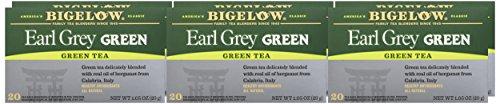 Bigelow Earl Grey Green Tea, 20 Bags (Pack of 6), Premium Green Tea with Oil of Bergamot, Antioxidant-Rich All-Natural Gluten-Free Medium-Caffeine Tea in Foil-Wrapped Bags by Bigelow Tea (Image #1)