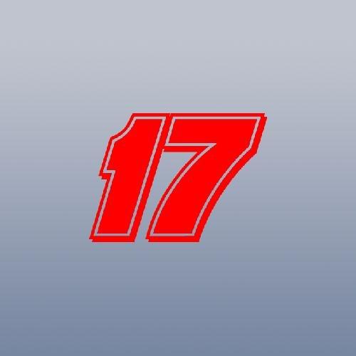 NASCAR AUTO WALL ART WINDOW DECAL STICKER RED WALL CAR LAPTOP MATT KENSETH # 17 BIKE NOTEBOOK ART VINYL ADHESIVE - Matt Kenseth Wall