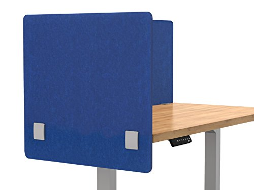 "Merge Works Acoustic Partition, Sound Absorbing Desk Divider – 24"" W x 24""H Privacy Desk Mounted Cubicle Panel, Blue by Merge Works"