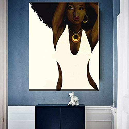 Wall art decoration set of 3pcs Print Picture African women Size S//L//M