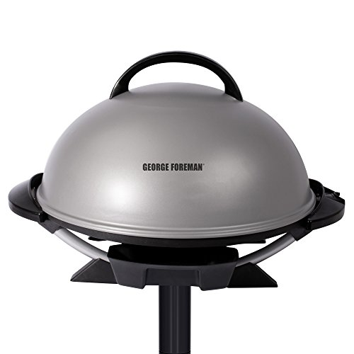 George Foreman GFO240S Indoor/Outdoor Electric Grill, Silver (George Foreman Bbq Grill compare prices)