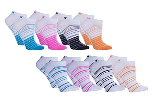 Women's 8 Pair Pack Cool Blue Anklet Socks One Size Fits Most ()