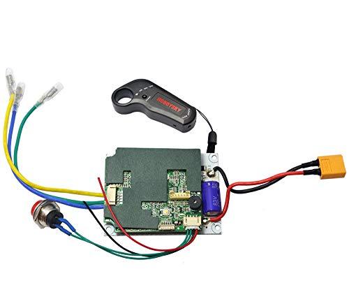 Transmitter Single - Hobbysky 36V Single Motor Drive ESC for Brushless Belt Motor & Wireless 2.4G Remote Control Transmitter for Electric Skateboard Longboard Scooter DIY Skateboard