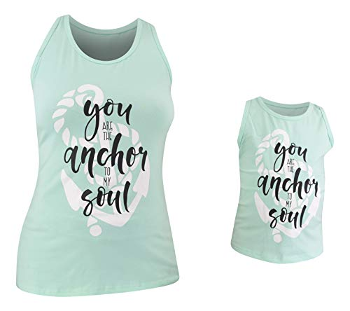 Unique Baby Girls Mommy & Me Racerback Anchor Tank Tops (Women L, ()