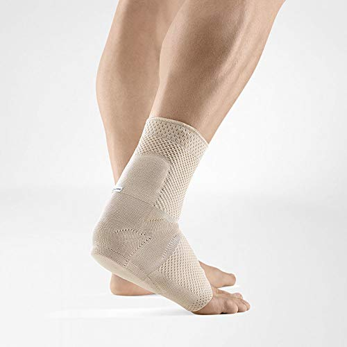 Bauerfeind – AchilloTrain – Achilles Tendon Support – Breathable Knit Ankle Brace for Targeted Relief of Achilles Tendon Without Limiting Mobility – Right Foot – Size 5 – Color Nature