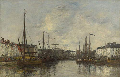 Polyster Canvas ,the High Quality Art Decorative Canvas Prints Of Oil Painting 'Eugne Boudin Brussels Harbour ', 20 X 31 Inch / 51 X 80 Cm Is Best For Laundry Room Gallery Art And Home Artwork And Gifts