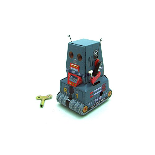 Classic Vintage Clockwork Wind Up Tank Robot Adult Collection Children Tin Toys With - Up Wind Classic Robot