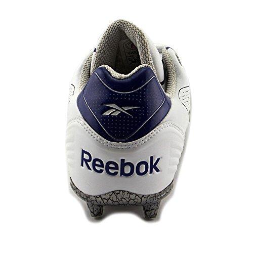 Reebok Pro Brûleur Spd Iii Bas M3 Football Cales Blanc Royal Royal Blanc / Foncé Royal