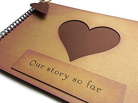Our Story So Far Anniversary Love Heart Memory Book Scrapbook