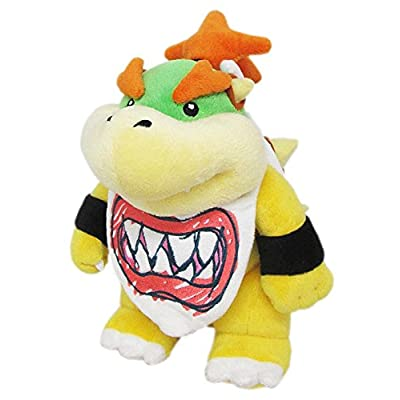 """Little Buddy Super Mario All Star Collection 1424 Bowser Jr. Stuffed Plush, 8"""": Toys & Games"""