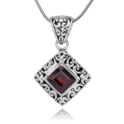 sterling-silver-filigree-red-garnet-gemstone-square-pendant-necklace-w-18-silver-chain
