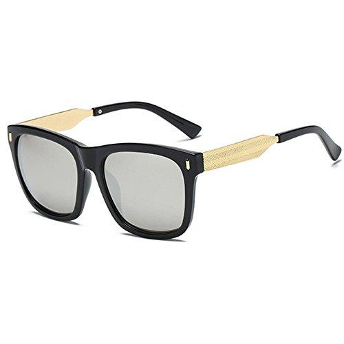 couleur cher lunettes lunettes Hommes soleil de lumineux rétro et E femmes Aoligei carrés pas tqwHfx700