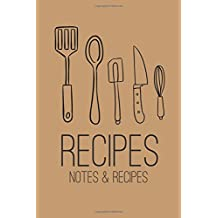 Recipes: Recipe Journal-Blank Cookbook To Write In (Blank Cookbooks and Recipe Books)