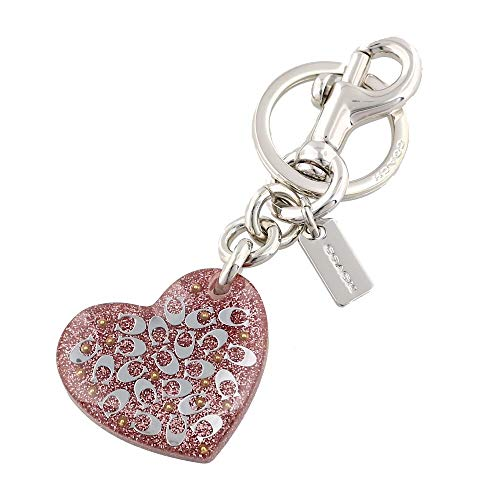 Coach Signature Heart Bag Charm Nude Pink F32230