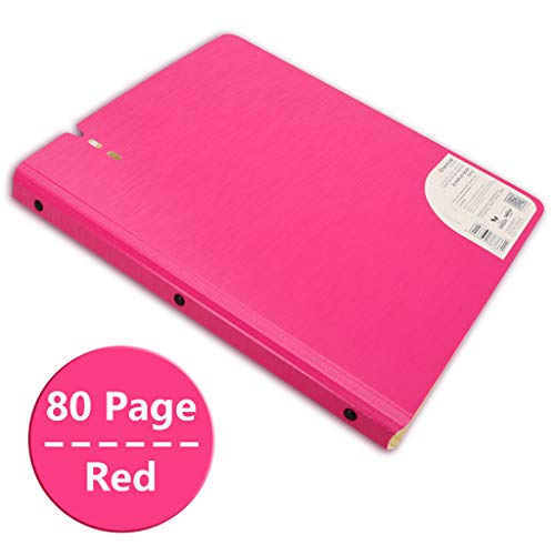 K-Flame A4 Slim Binder Coloured Plastic Wallets Binders Clips Stationery Document Storage Paper for Office School,Red,80