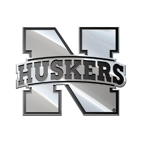 NCAA Nebraska Cornhuskers Premium Metal Auto Emblem (Ncaa Nebraska Cornhuskers Decal)