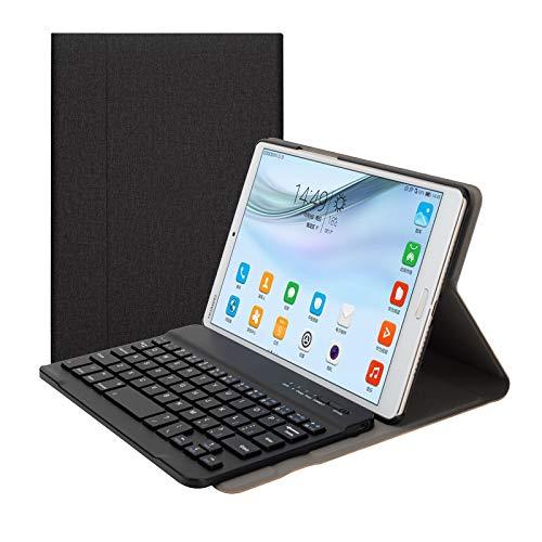 Gaurdeen Keyboard Case for Huawei Mediapad M5 8, Premium PU Leather Folio  Stand Cover with Removable Wireless Bluetooth Keyboard, for Huawei Mediapad