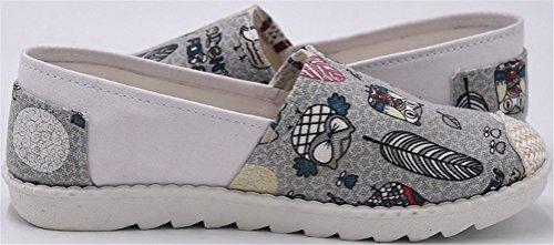 Mocassins En Toile Satuki Pour Femme, Pull Décontracté Mode Sneakers Chaussures Plates Gris