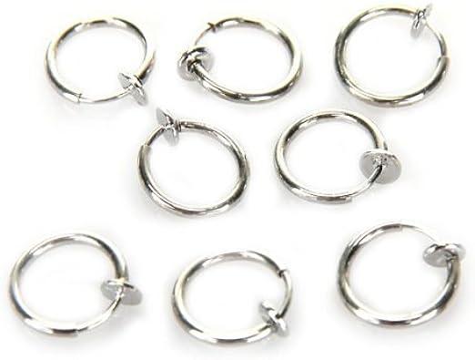 Gleader 8 Cerchi Clip Da Naso Labbra Orecchini Piercing Finti Amazon It Gioielli