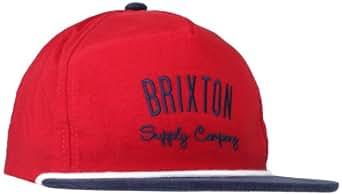Brixton Men's Carbon Cap, Burgundy/Navy, One Size