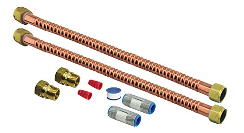 UV20014 Water Heater Water 18 Inch Connector Kit With Fittin